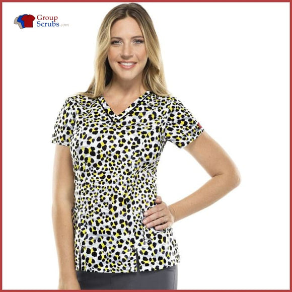 Dickies Dk702X8 V-Neck Top Must Be The Spot / S Womens