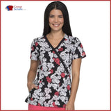 Dickies Dk714 Mock Wrap Top Lace Bouquet / S Womens
