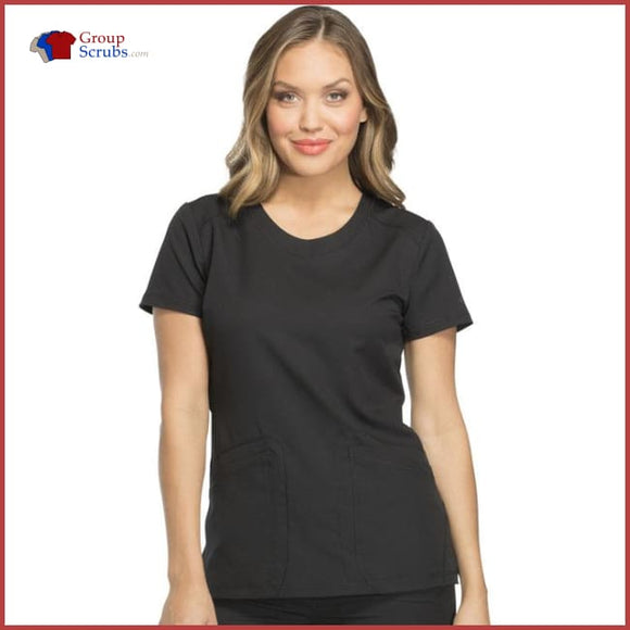 Dickies Dynamix Dk720 Rounded V-Neck Top Black / 2Xl Womens