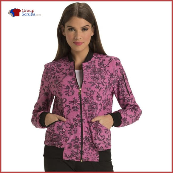 Heartsoul Hs311 Zip Front Bomber Jacket Ace Of Lace / Xs Womens