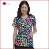 Heartsoul Hs629 V-Neck Top Rainbow Roar / 3Xl Womens