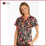 Runway Rw601 Mock Wrap Top Mixed Petals / S Womens
