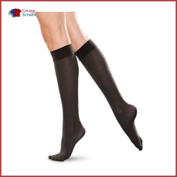 Therafirm Tf172 20-30 Mmhg Knee-High Closed-Toe Unisex Compression Socks Black / 2Xl Footwear