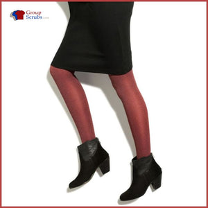 Therafirm Therafirmlight Tf309 10-15 Mmhg Opaque Compression Tights Berry Heathered / L Footwear