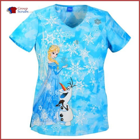 Tooniforms Tf603Xb5 V-Neck Top Ice Queen / Xxs Womens