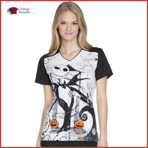 Tooniforms Halloween Tf630 V-Neck Top Inseparable / Xs Womens