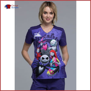 Tooniforms Halloween Tf639 V-Neck Top R.i.p. / 2Xl Womens