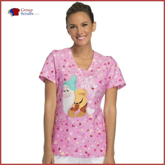 Tooniforms Disney Tf641 V-Neck Top Bashful / 3Xl Womens