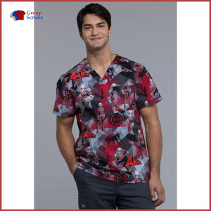 Tooniforms Tf675 Mens V-Neck Top Ant-Man / M Mens