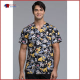 Tooniforms Tf675 Mens V-Neck Top Pluto Vs. Pluto / 2Xl Mens