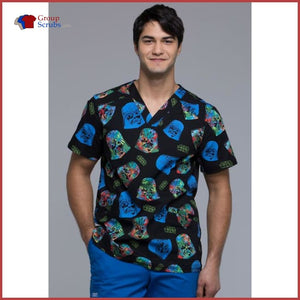 Tooniforms Tf676 Mens V-Neck Top Darth On Holiday / 2Xl Mens