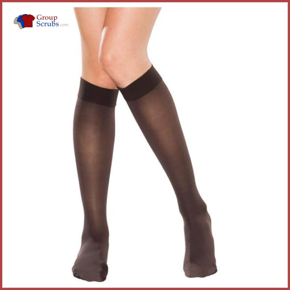 Therafirm Tf681 15-20 Mmhg Knee-High Sheer Compression Stockings Cocoa / L Footwear