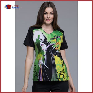 Tooniforms Tf694 V-Neck Top Maleficent / 2Xl Womens