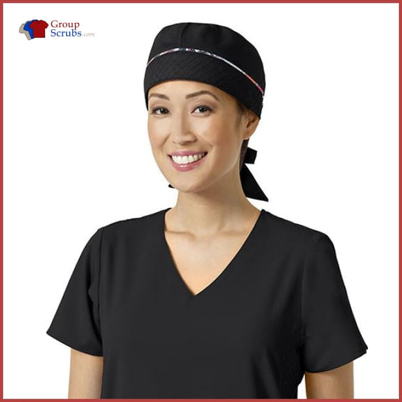 Vera Bradley Signature V4002 Tie Back Scrub Cap Black / One Size Medical Equipment