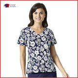 Vera Bradley Halo V6117 Nettie V-Neck Print Top Womens