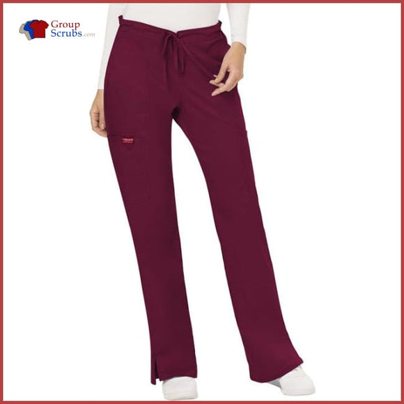 Cherokee Workwear Revolution WW120T Mid Rise Moderate Flare Drawstring Pant
