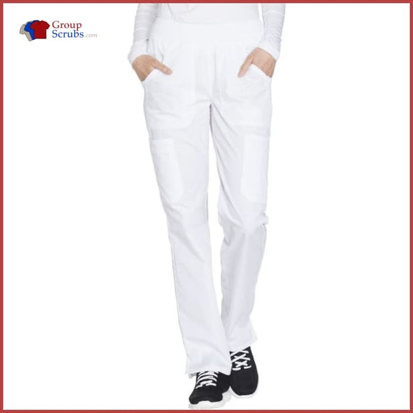 Cherokee Workwear Originals Ww210 Mid Rise Straight Leg Pull-On Cargo Pant White / 2Xl Womens