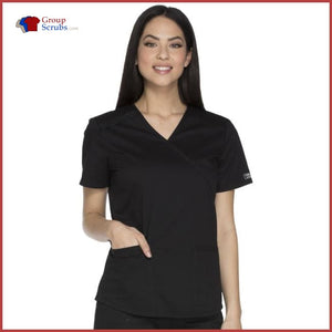 Cherokee Workwear Core Stretch WW640 Mock Wrap Top
