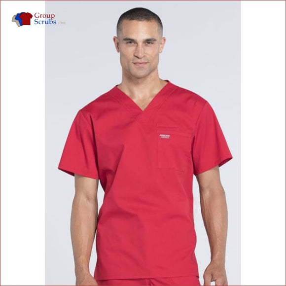 Cherokee Workwear Professionals Ww675 Mens V-Neck Top Red / 3Xl Mens
