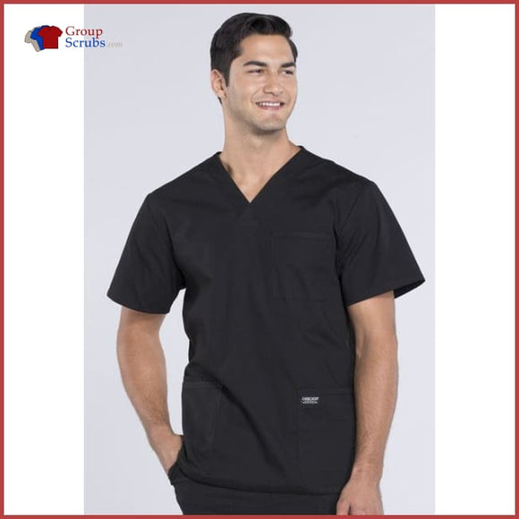 Cherokee Workwear Professionals Ww695T Mens V-Neck Top Black / 2Xl Mens