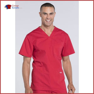 Cherokee Workwear Professionals Ww695T Mens V-Neck Top Red / 3Xl Mens