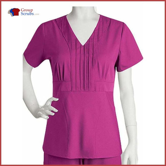 Barco Greys Anatomy 41285 Pleat V-Neck Top Black / S Clearance