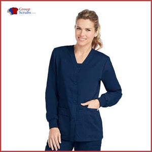 Barco Greys Anatomy 4435 4-Pocket Sporty Warmup Jacket Indigo / 2Xl Clearance