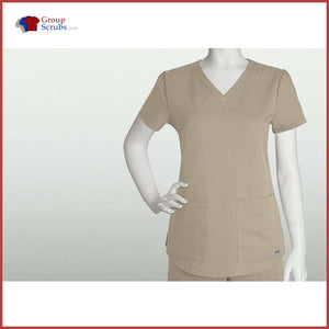 Barco Greys Anatomy 71166 2-Pocket V-Neck Top New Khaki / S Clearance