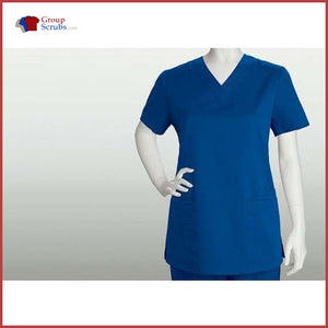 Barco Icu 71150 4-Pocket V-Neck Top New Royal / L Clearance