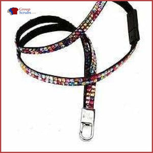 Cherokee Accessories Boujee Bling Lanyard Multi Color Stones / One Clearance