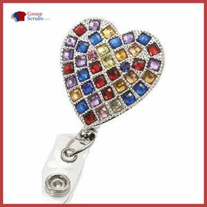 Cherokee Accessories Boujee Bling Retracable Id Reel Multi Color Stones / One Clearance