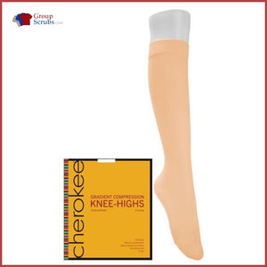 Cherokee Footwear Ykhts2 Knee High Compression Socks Nude / L/q Womens