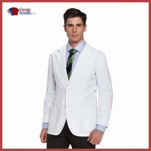 Barco Mr. 0619 Mens 30 Consultation Lab Coat White / 40 Clearance