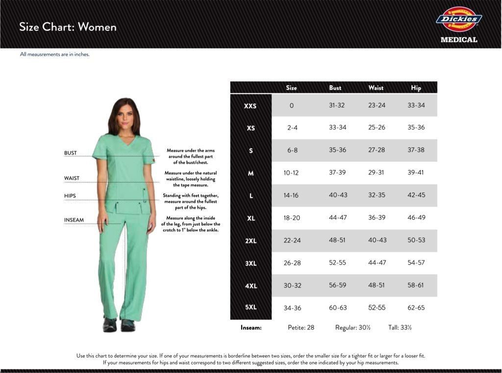 Dickies Women's Size Chart