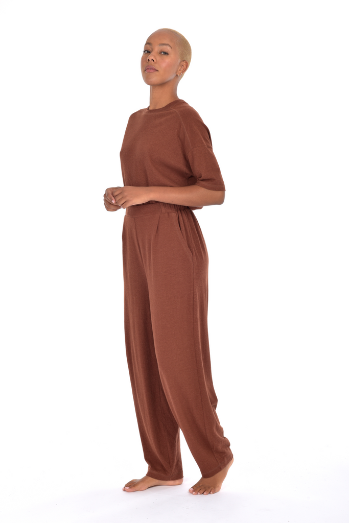 ECHO pleat front pant
