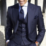 Stripe Men's 3 pieces Slim Fit  Suit