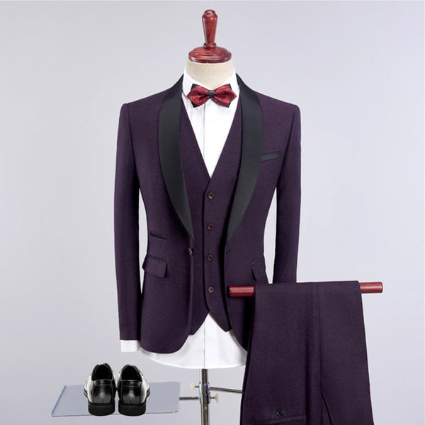 High-End Fashion Men's  3 Sets Slim Fits  Banquet Suit - Dada Stores