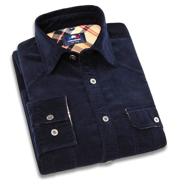 100% cotton Long Sleeve vintage Flannel Casual Shirt - Dada Stores
