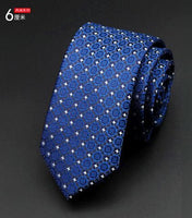 6cm Fashion Dot Jacquard Slim Tie - Dada Stores