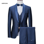 Men's  3 Piece  Party Shawl Collar Prom Wedding Suits - Dada Stores