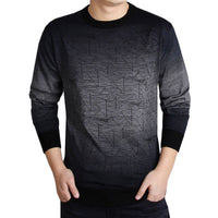 Thick men's pullover sweaters , casual crocheted gradient knitted sweater - Dada Stores