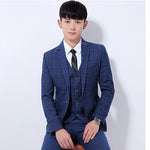 (Jackets+Pants)  Cotton Single Button Wedding Formal Suits - Dada Stores