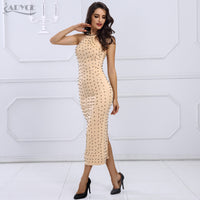 Sexy Halter Neck Beading  Celebrity  Bodycon Evening Party Dresses - Dada Stores