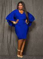 Women Plus Size Elegant  Party Pencil Sheath Dress - Dada Stores