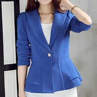 Women Office Lady Notched Blazer Jackets Plus Size - Dada Stores