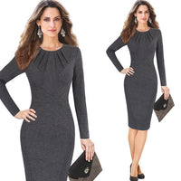 Business Office Party Cocktail Bodycon Sheath Dress - Dada Stores