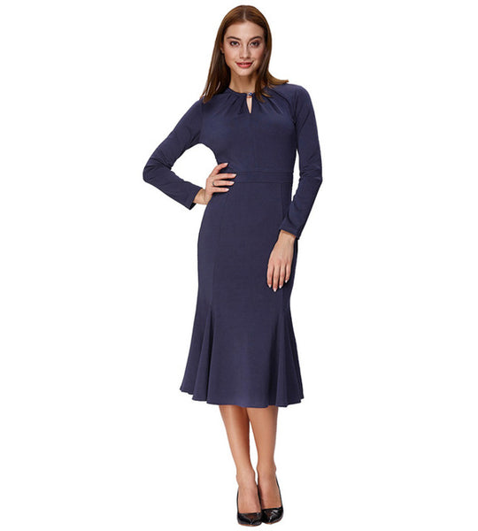 Women Evening  Long Sleeve Formal Gown - Dada Stores
