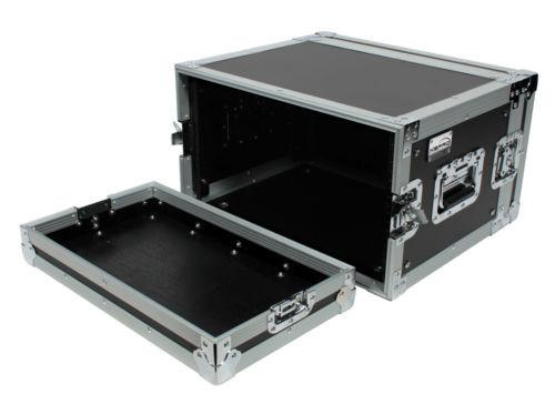 "XSPRO XS6U-14 6 Space 6U ATA Effects Rack Flight Tour Case 19"" Wide 14"" Deep"