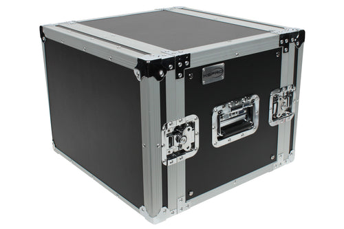 "XSPRO XS8U-14 8 Space 8U ATA Effects Road Tour Flight Rack Case 19"" Wide"