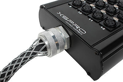 XSPRO 12 Channel 30' Pro Drop Extension XLR Snake Cable 12x30